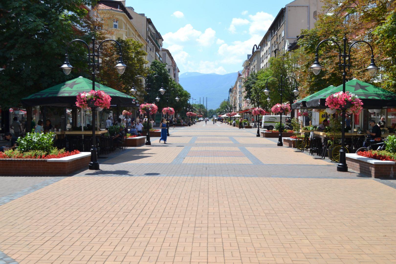 Vitosha boulevard - the main commercial street of Sofia